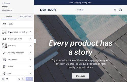 Shopify Shopsystem Theme Editor