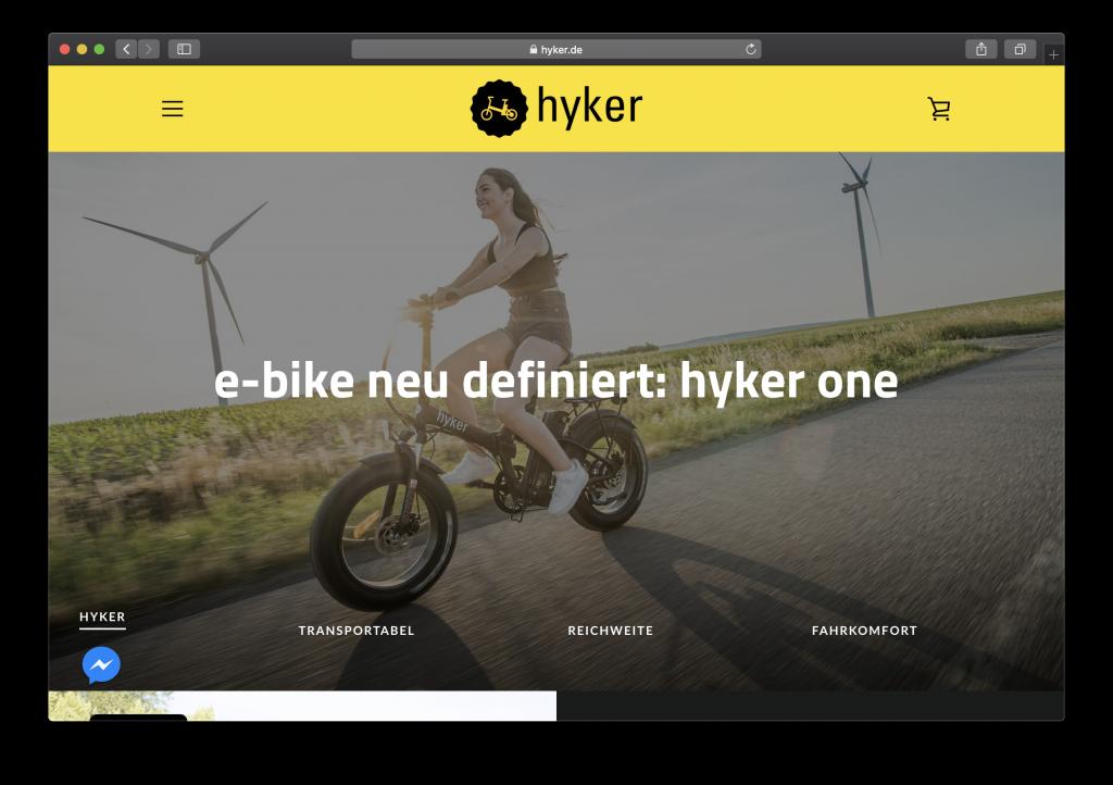 hyker.de onlineshop launch mit Shopify - by ecommercely.de