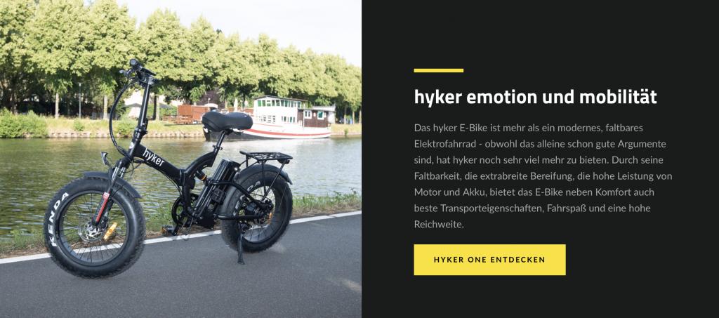 hyker.de e-bike faltbar, klapprad, klappbares e-bike
