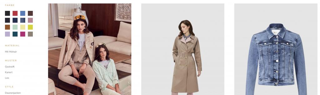 Shopify: Rich & Royal, Produktfilter nach Farben und Tags
