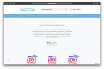 Shopify Projekt followersheaven.de