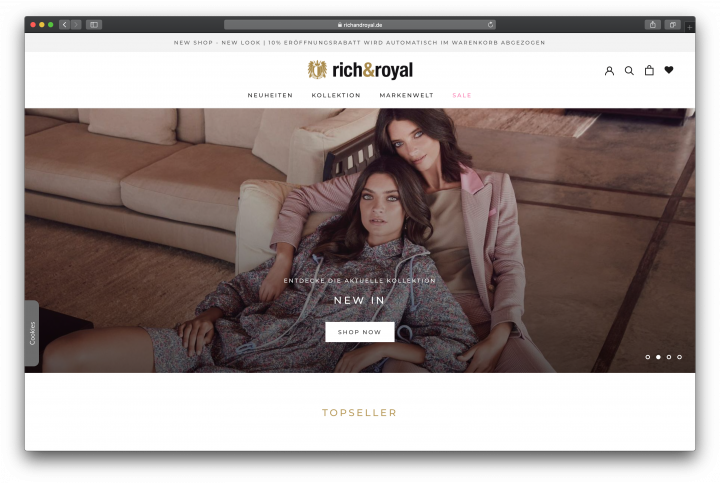 Rich & Royal Migration von Magento zu Shopify