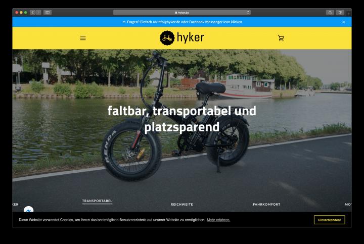 Shopify Projekt hyker.de